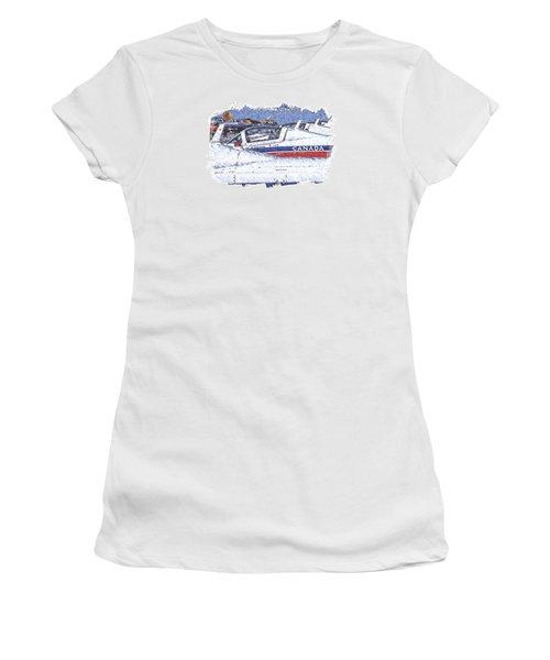 Women's T-Shirt (Junior Cut) featuring the digital art Snowbirds by Richard Farrington