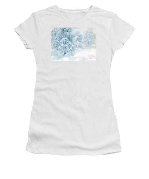 Snowstorm Women's T-Shirt (Junior Cut) by Joy Nichols