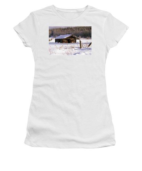 Snowy Cabin Women's T-Shirt