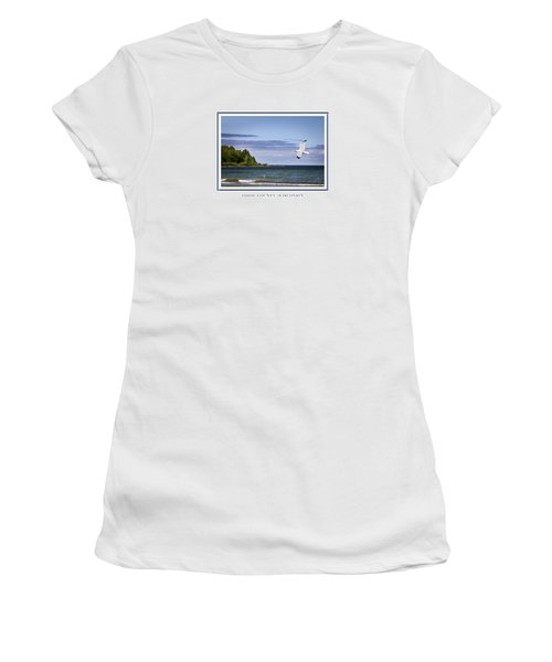Soaring Over Door County Women's T-Shirt (Athletic Fit)