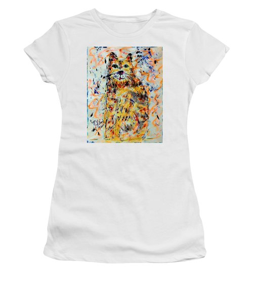 Sophisticated Cat 3 Women's T-Shirt (Athletic Fit)