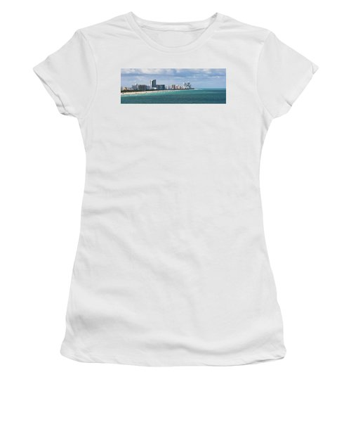 South Beach On A Summer Day Women's T-Shirt (Athletic Fit)