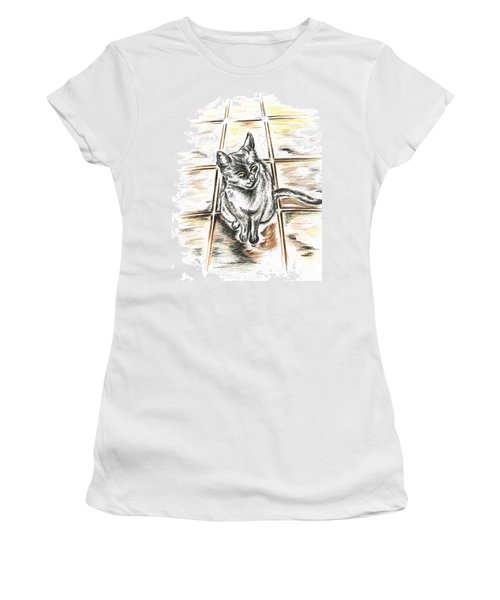 Spanish Cat Waiting Women's T-Shirt (Athletic Fit)