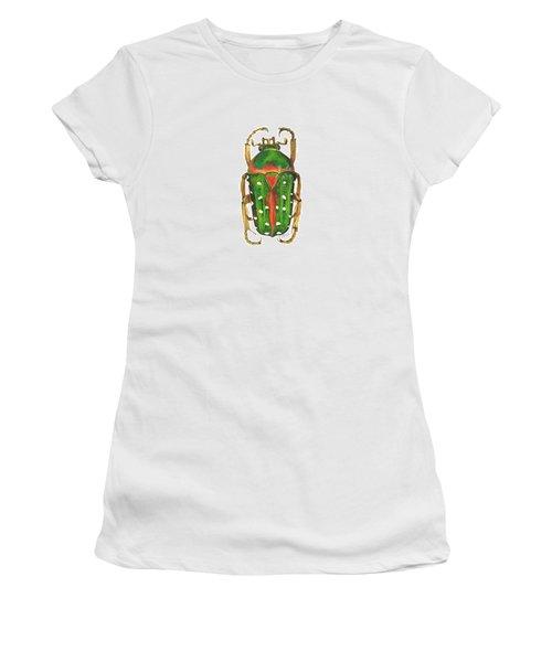 Spotted Flour Beetle Women's T-Shirt (Junior Cut) by Cindy Hitchcock