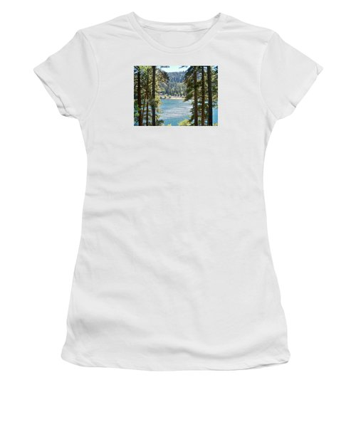Spotted Lake - Scenic Photography - Lake Gregory California - Ai P. Nilson Women's T-Shirt (Athletic Fit)