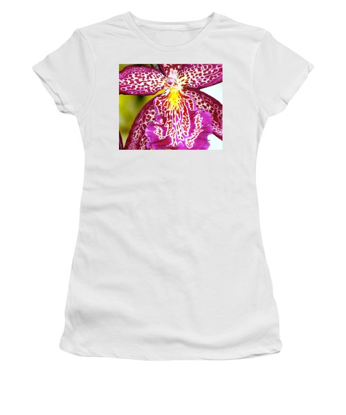 Spotted Orchid Women's T-Shirt (Junior Cut) by Lehua Pekelo-Stearns