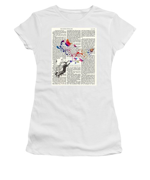 Spray Natura Graffiti Art Print Women's T-Shirt