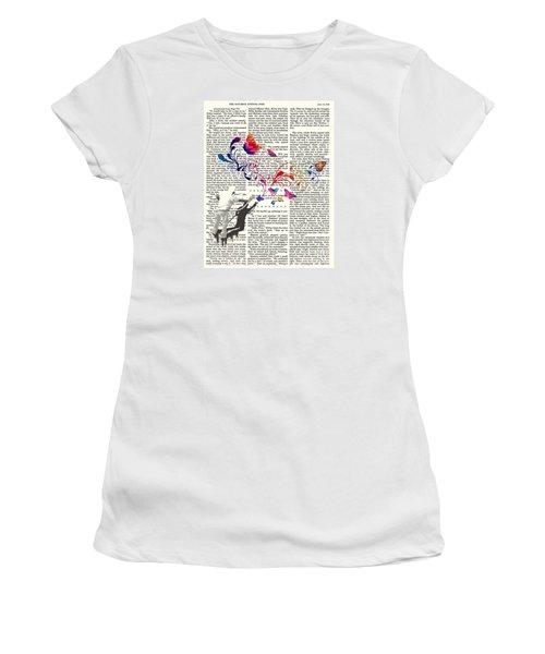 Spray Natura Graffiti Art Print Women's T-Shirt (Athletic Fit)
