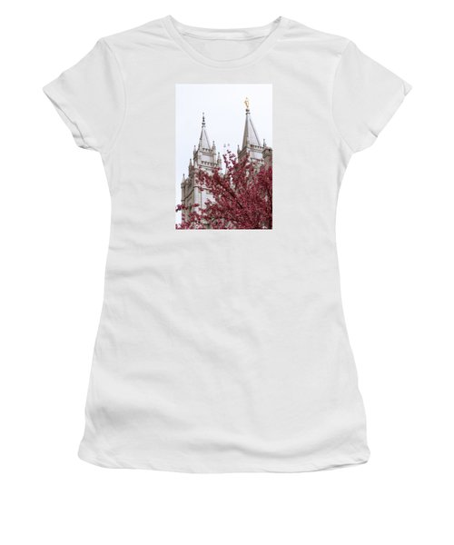 Spring At The Temple Women's T-Shirt (Athletic Fit)
