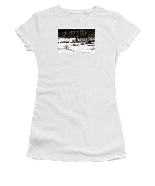 Spring Horizon Women's T-Shirt (Junior Cut) by Ed Hall