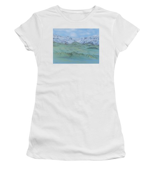 Springtime In The Rockies Women's T-Shirt (Athletic Fit)