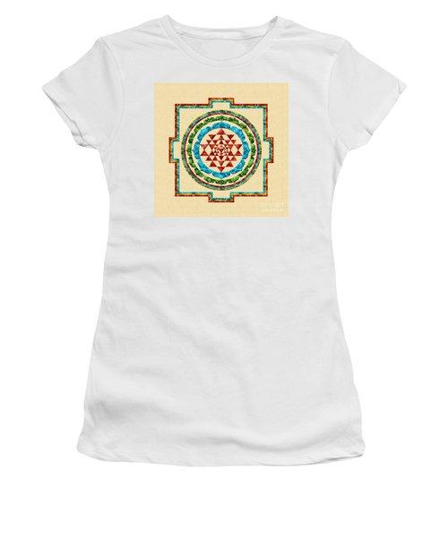Sri Yantra Women's T-Shirt (Athletic Fit)
