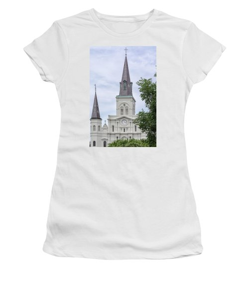 St. Louis Cathedral Through Trees Women's T-Shirt