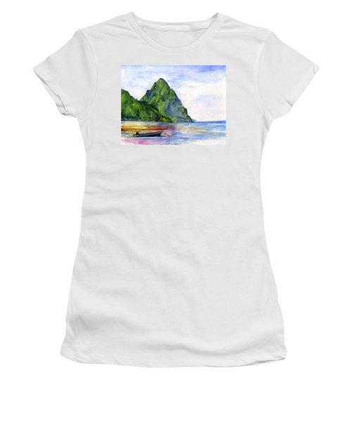 St. Lucia Women's T-Shirt (Athletic Fit)