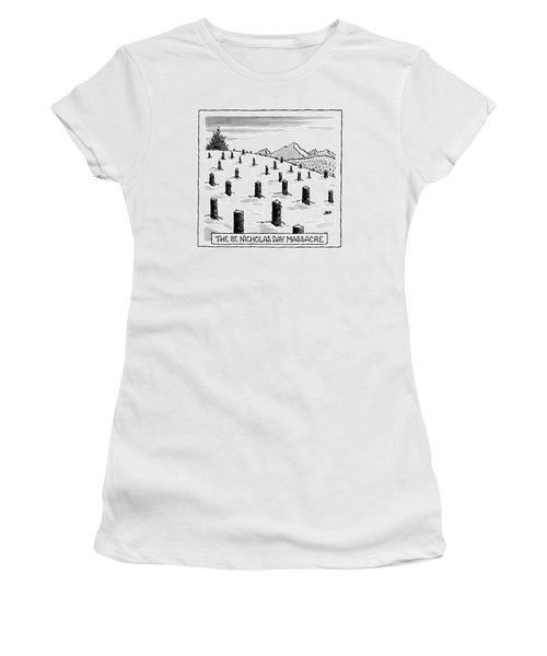 'st. Nicholas Day Massacre' Women's T-Shirt