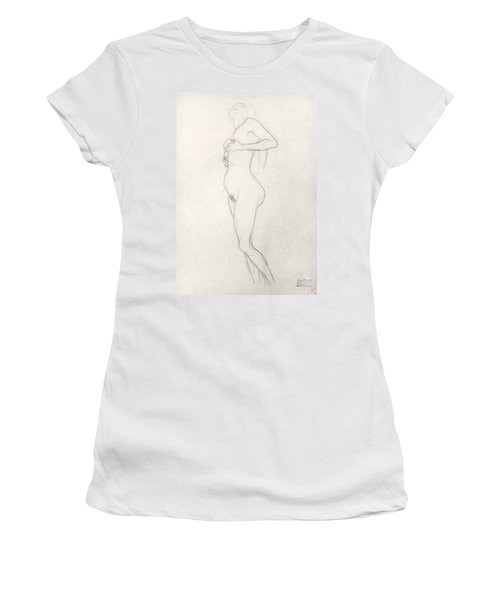 Standing Nude Girl Looking Up Women's T-Shirt