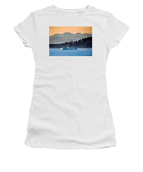 State Ferry And The Olympics Women's T-Shirt (Athletic Fit)
