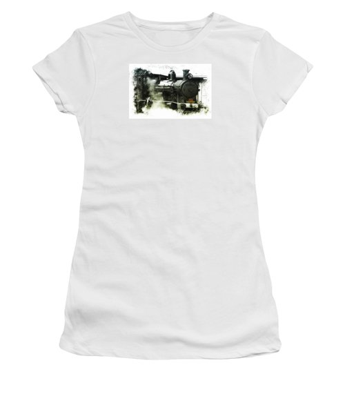 Women's T-Shirt (Junior Cut) featuring the photograph Steam 01 by Kevin Chippindall
