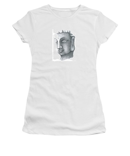 Women's T-Shirt (Athletic Fit) featuring the drawing Stillness by Keiko Katsuta