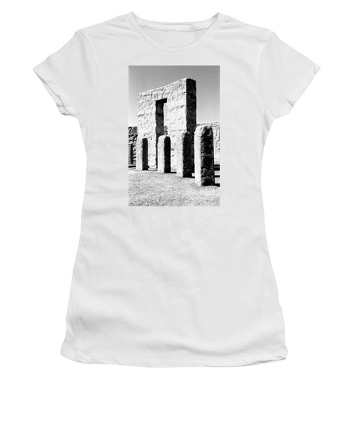 Women's T-Shirt (Junior Cut) featuring the photograph Stonehenge Replica by Chalet Roome-Rigdon