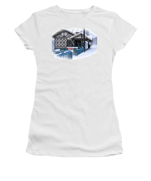 Strafford Station Women's T-Shirt (Junior Cut) by Ira Shander