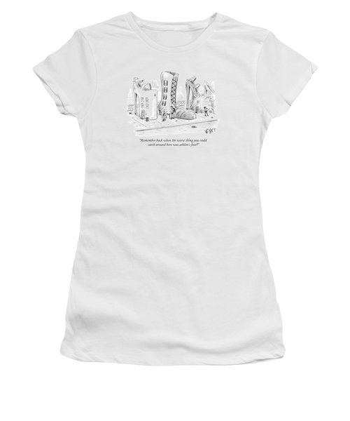 Street With Buildings Women's T-Shirt