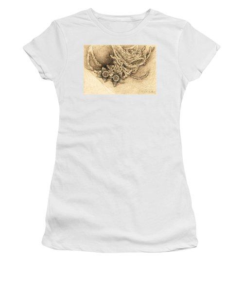Succulent Flowers Women's T-Shirt (Athletic Fit)