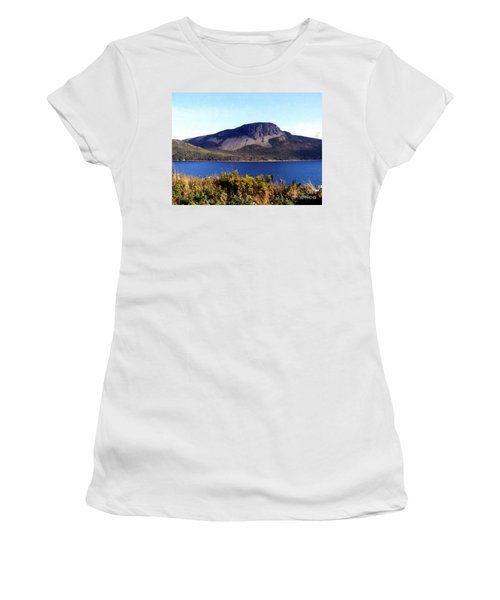 Women's T-Shirt (Junior Cut) featuring the painting Sugarloaf Hill In Summer by Barbara Griffin