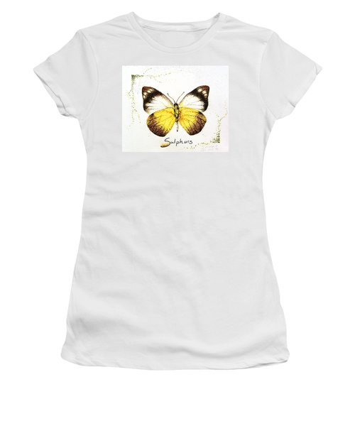 Sulphurs - Butterfly Women's T-Shirt (Athletic Fit)