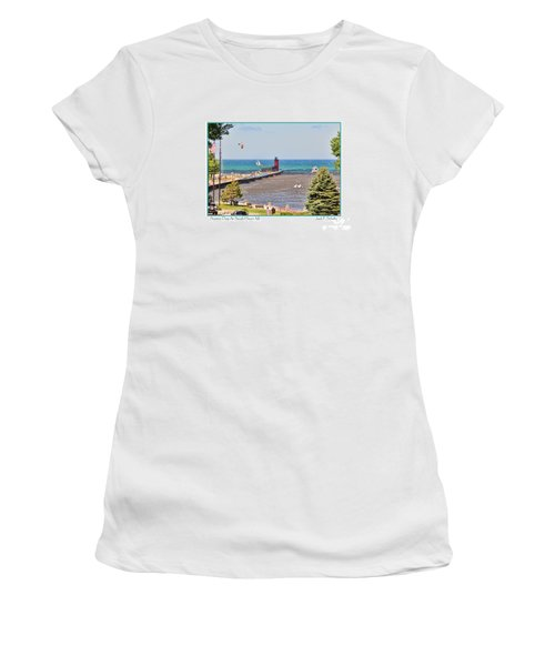 Summer Day At South Haven Mi Women's T-Shirt (Athletic Fit)