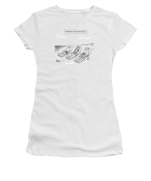 Summer Reading Group -- Three Beach Goers Lounge Women's T-Shirt