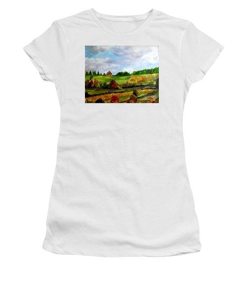 Summer's End Women's T-Shirt (Junior Cut) by Julie Brugh Riffey