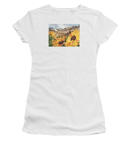 Sunflower Serenity Women's T-Shirt (Athletic Fit)