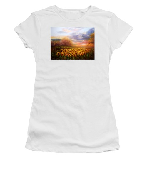 Sunflower Sunset Women's T-Shirt (Athletic Fit)