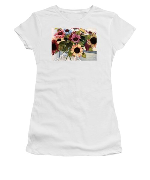 Sunflowers Women's T-Shirt (Athletic Fit)