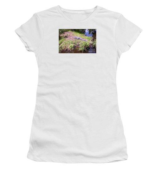 Sunny Gator  Women's T-Shirt (Junior Cut) by Joseph Baril