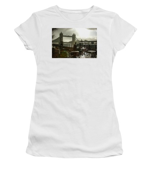 Sunny Rainstorm In London England Women's T-Shirt (Athletic Fit)