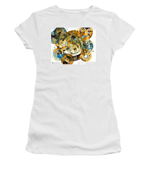 Women's T-Shirt (Junior Cut) featuring the painting Sunrise - 991.042212 by Kris Haas