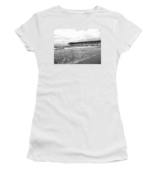 Sunrise At Surfside Bw Women's T-Shirt (Junior Cut) by Barbara McDevitt