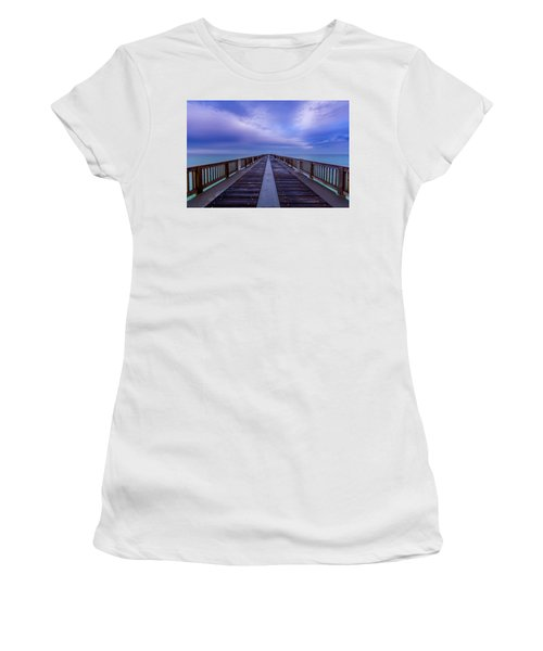 Sunrise At The Panama City Beach Pier Women's T-Shirt (Athletic Fit)