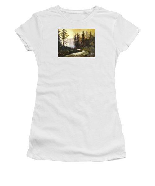 Sunrise In The Forest Women's T-Shirt (Junior Cut) by Lee Piper