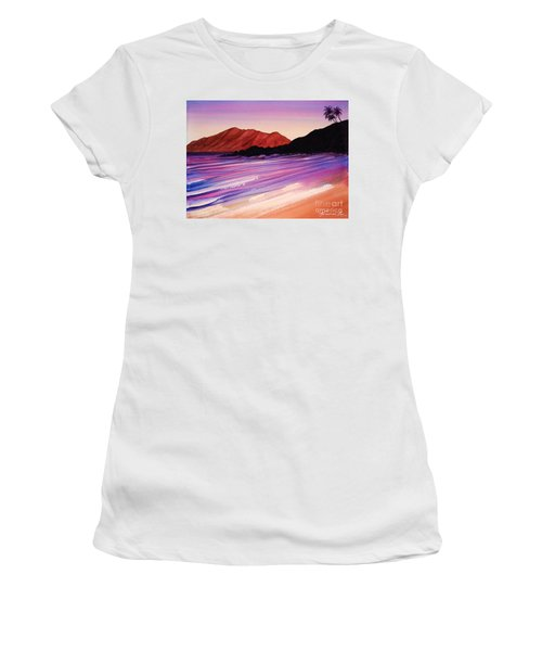 Sunset At Black Rock Maui Women's T-Shirt (Athletic Fit)