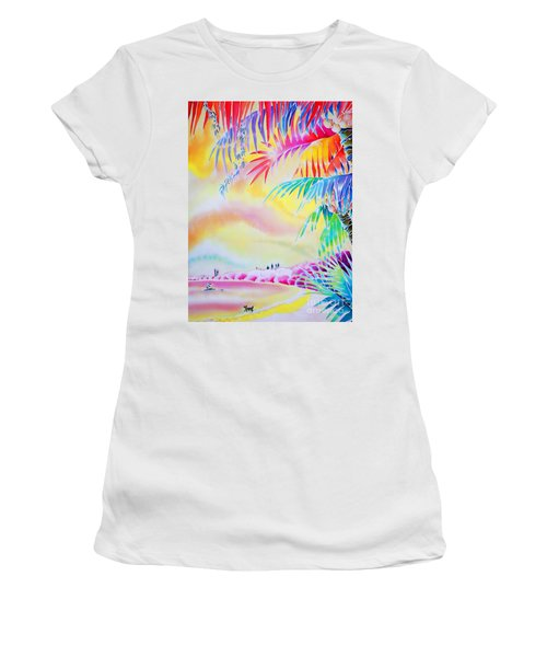 Sunset At Kuto Beach Women's T-Shirt (Athletic Fit)