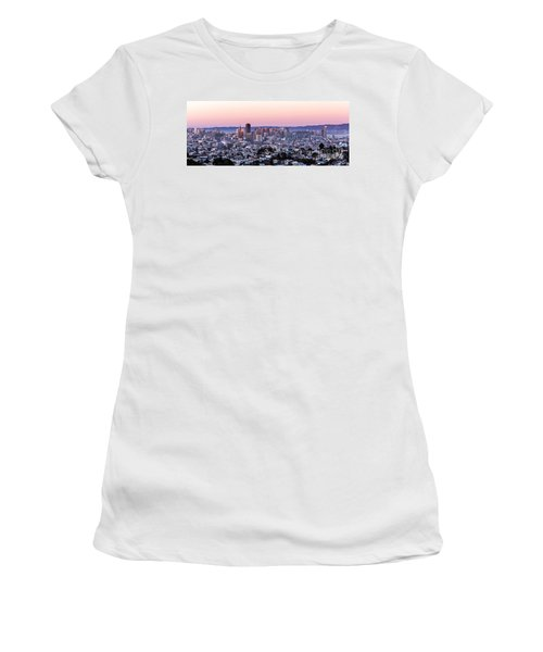 Women's T-Shirt featuring the photograph Sunset Cityscape by Kate Brown