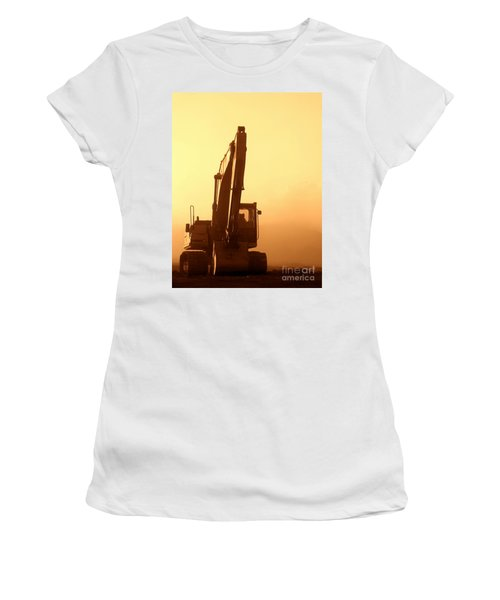 Sunset Excavator Women's T-Shirt
