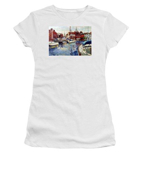 Sunset On The Harbor Women's T-Shirt