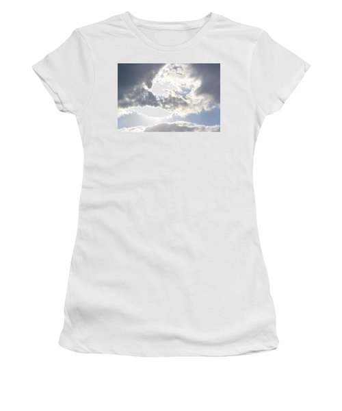 Women's T-Shirt (Junior Cut) featuring the photograph Sunshine Through The Clouds by Tara Potts