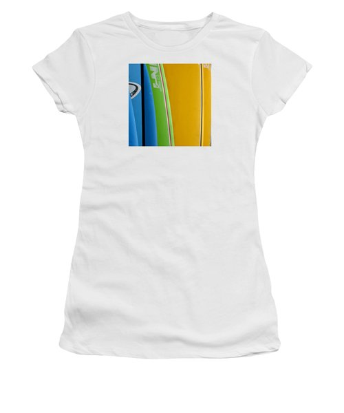 Surf Boards Women's T-Shirt (Junior Cut) by Art Block Collections