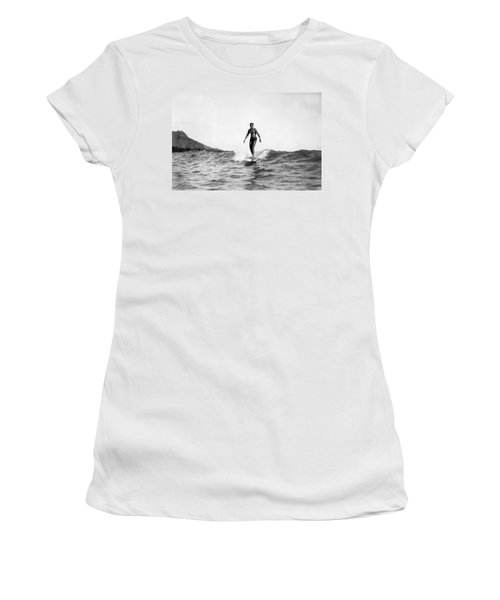 Surfing At Waikiki Beach Women's T-Shirt