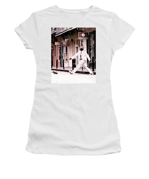 New Orleans Suspended Animation Of A Mime Women's T-Shirt (Athletic Fit)